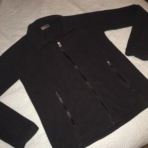 REI fleece zipper jacket dark grey